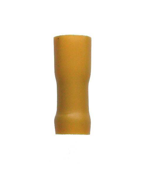 31352 Flachsteckhülse vollisoliert gelb 6,3 x 0,5 / 4,0 - 6,0 mm²