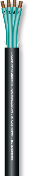 31850 SC-ELEPHANT SPM425 Speakercable 4x2,5mm² schwarz