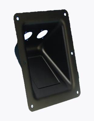 01234-50 Adam Hall Hardware 87160 - Einbauschale schwarz (VPE 50 Stück)