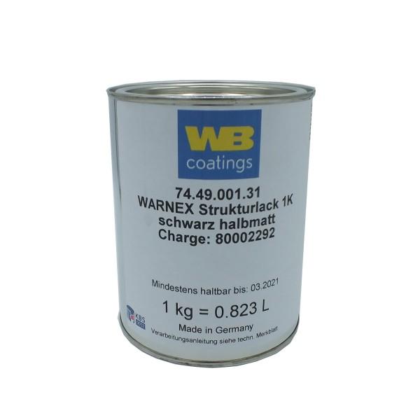 67111 1kg Warnex Strukturlack RAL 9005 Tiefschwarz