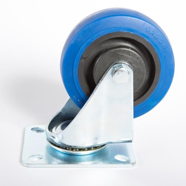 65646 LT. 3151 - Lenkrolle 100 mm mit blauem Rad