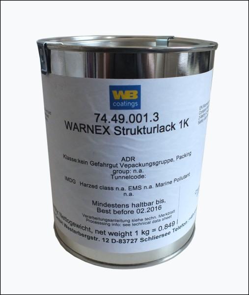 67112 12kg Warnex Strukturlack RAL 9010 Reinweiß