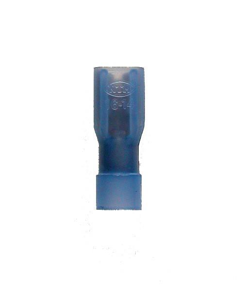 12471 Flachsteckhülse vollisoliert blau 4,8 x 0,8 / 1,5-2,5 mm²