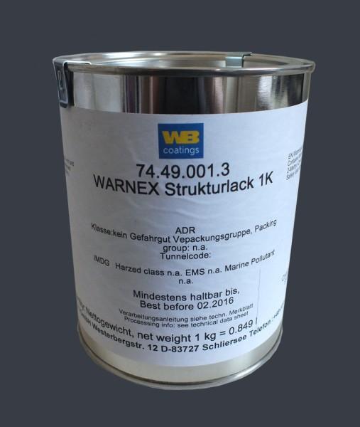 67110 1kg Warnex Strukturlack RAL 7016 Anthrazitgrau