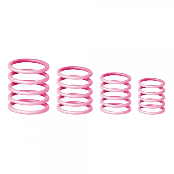 58659 Gravity RP5555PNK1 - Universeller Gravity Ring Pack, Misty Rose Pink