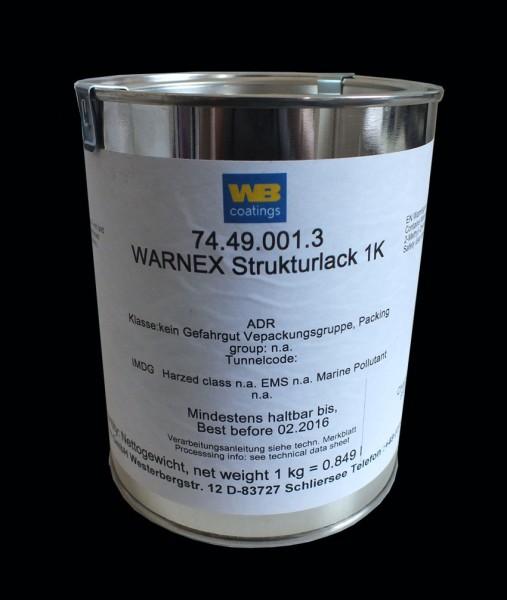 67115 12kg Warnex Strukturlack RAL 9005 Tiefschwarz